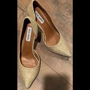 Steve Madden Preme Gold Glitter Stiletto/Heels